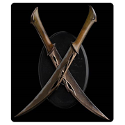 The Hobbit The Desolation of Smaug Daggers of Tauriel Prop Replica