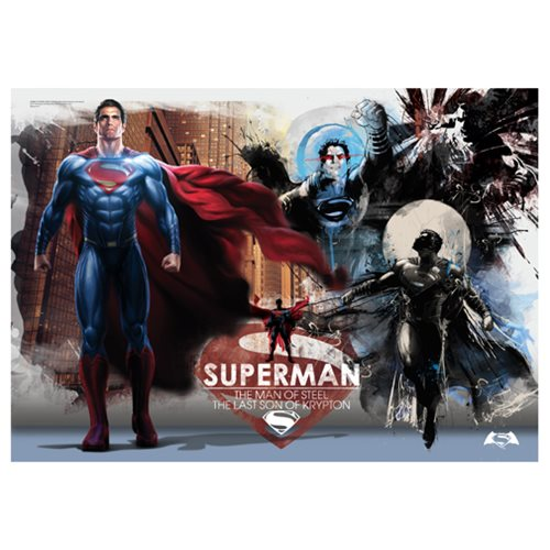 Batman v Superman: Dawn of Justice Man of Steel MightyPrint Wall Art Print