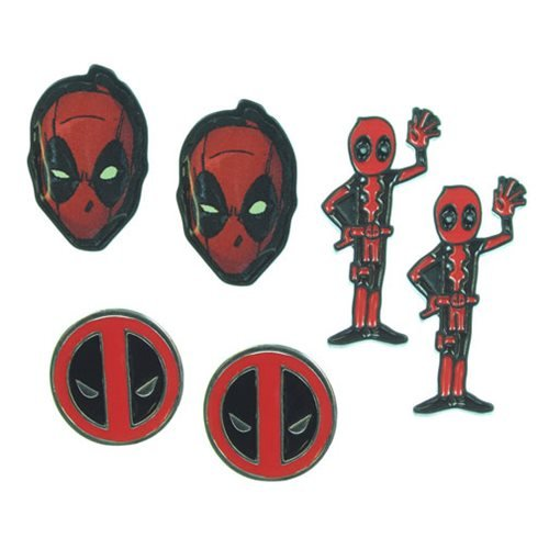 Deadpool Earrings 3-Pack Set