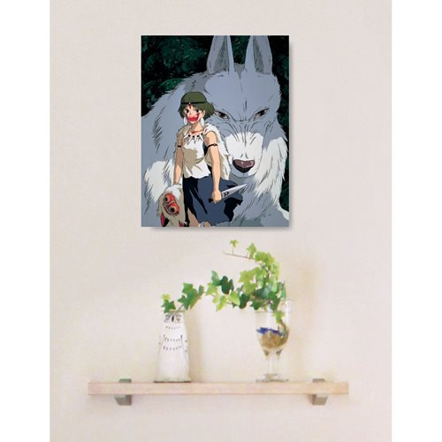 Princess Mononoke Moro and San Artboard Canvas Style 366-Piece Jigsaw Puzzle