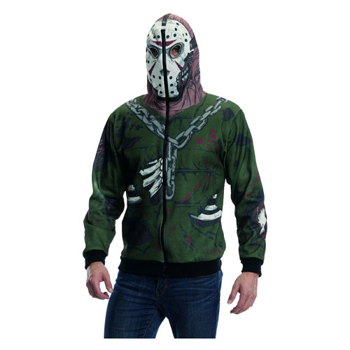 Friday the 13th Jason Voorhees Zip-Up Hooded Costume