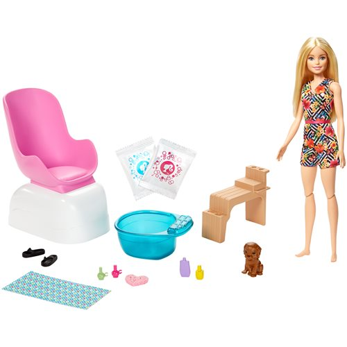 Barbie Wellness Nail Salon Playset