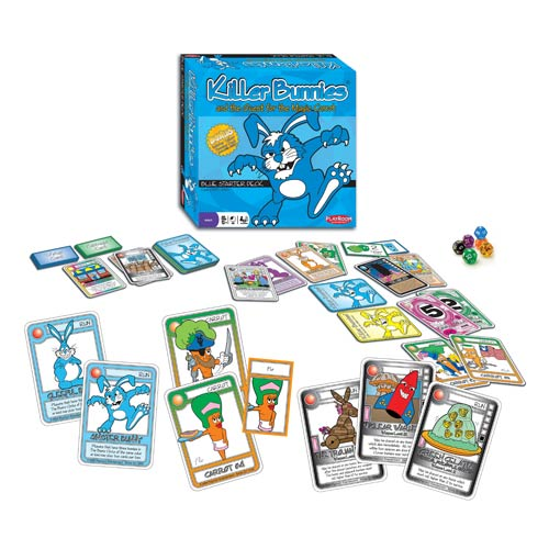 Killer Bunnies Quest for the Magic Carrot Blue Starter Deck