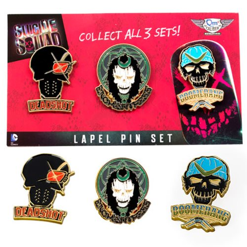 Suicide Squad Lapel Pin Set 1
