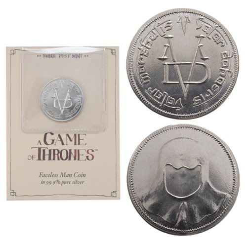 Game of Thrones Pure Silver Faceless Man Coin