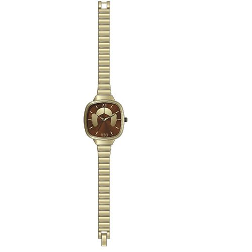 Star Wars Princess Leia Hair Silhouette Gold Finish Link Watch
