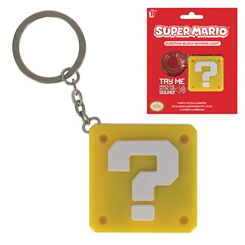 Super Mario Bros. Question Block Key Chain
