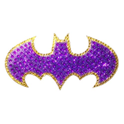 Batman Batgirl Logo Crystal Studded Medium Decal