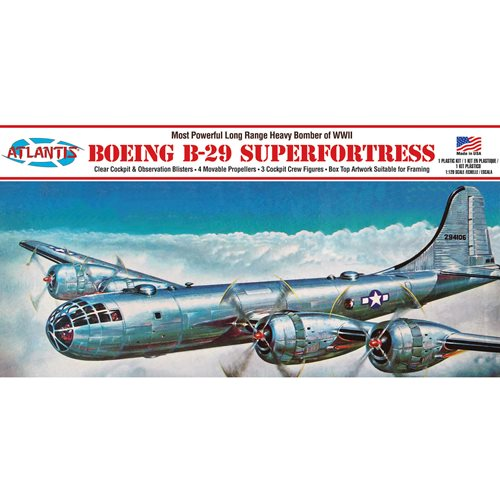 Boeing B-29 Superfortress with Swivel Stand 1:120 Scale Plastic Model Kit