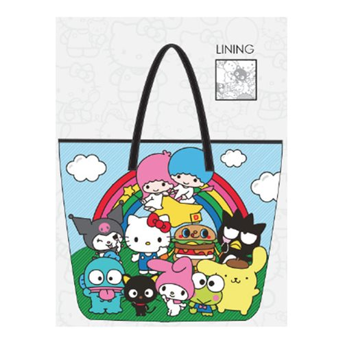 Hello Kitty Sanrio Character Rainbow Tote Purse