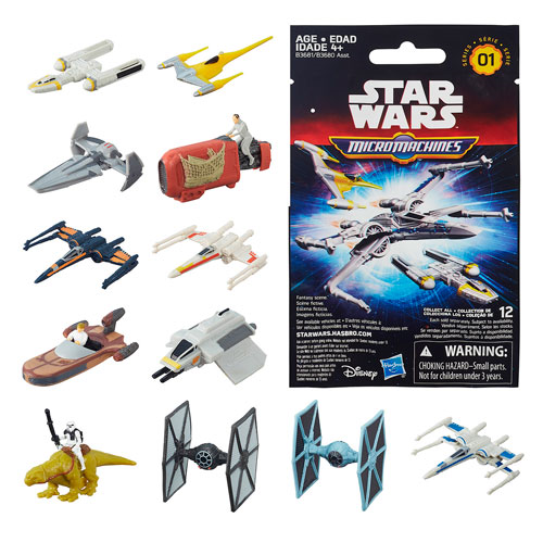 Star Wars: The Force Awakens MicroMachines Blind Bag Vehicles Wave 1 Case