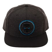 Black Panther Logo Black Snapback Hat