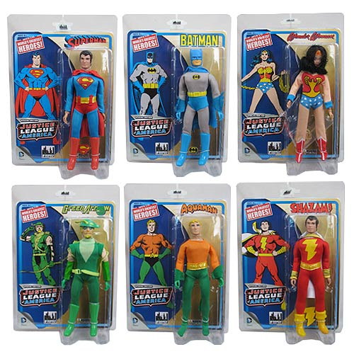 Justice League 8-Inch Retro Action Figures Series 1 Set