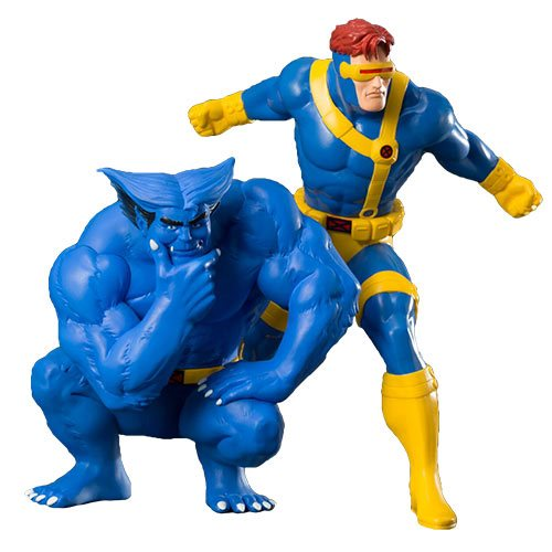 Картинки по запросу Marvel ArtFX+ Statues - X-Men '92 - 1/10 Scale Cyclops & Beast 2-Pack