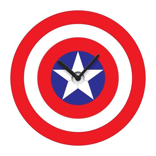 Captain America's Shield Wobble Wall Clock