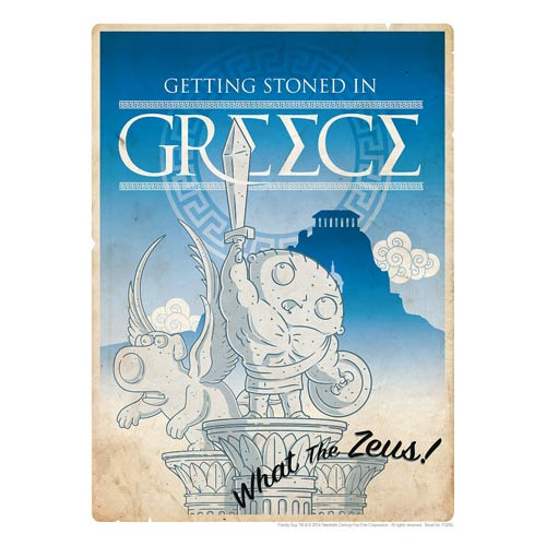 Family Guy Road to Greece Lithograph Print