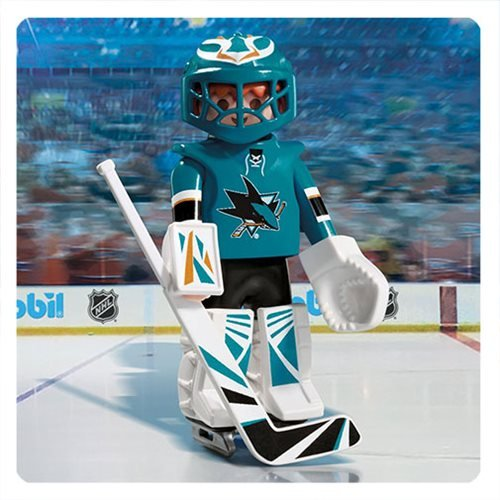 Playmobil 9197 NHL San Jose Sharks Goalie Action Figure