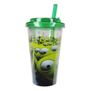 Toy Story Aliens Green 16 oz. Flip-Straw Plastic Travel Cup