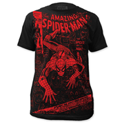 Spider-Man Spider or the Man Big Print Black T-Shirt
