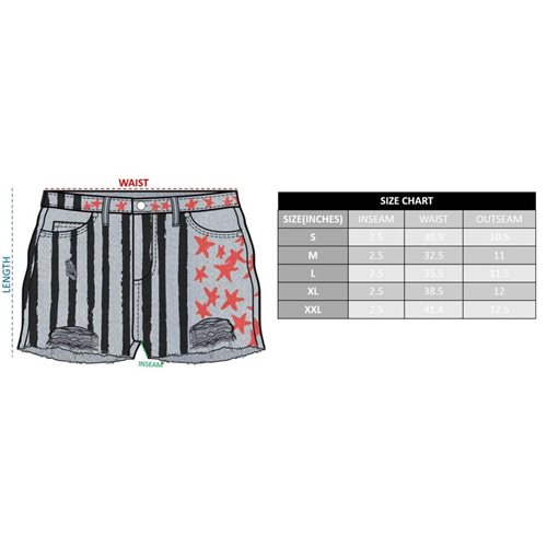Birds of Prey Harley Quinn Cosplay Distressed Shorts
