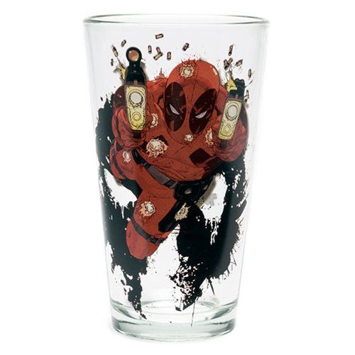 Deadpool Shooting Toon Tumbler Pint Glass