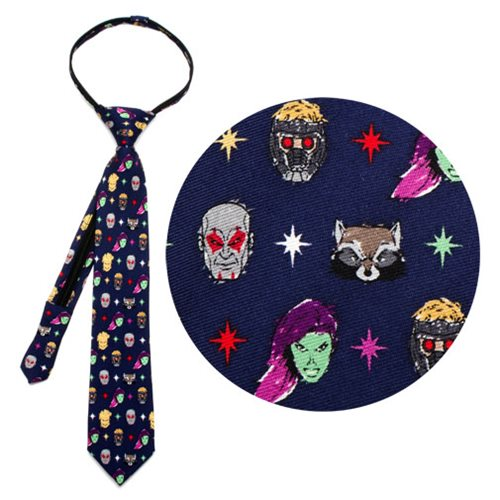 Guardians of the Galaxy Navy Boys Zipper Silk Tie