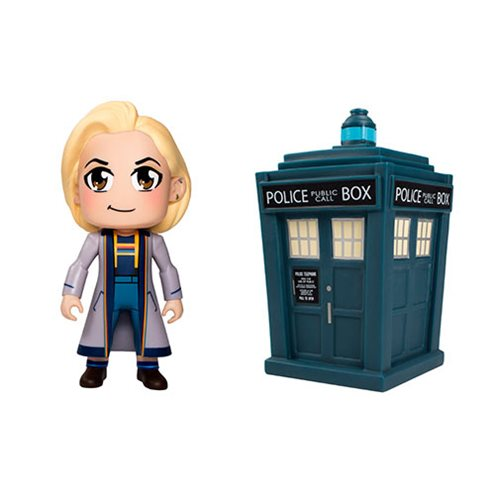 Doctor Who 13th Doctor and TARDIS 3-Inch Vinyl Figure 2-Pack