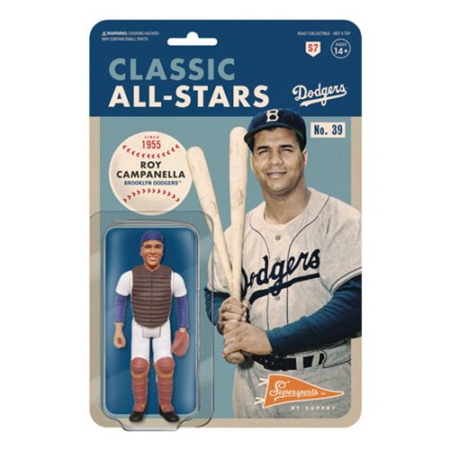 Major League Baseball Classic Roy Campanella (Catcher, Brooklyn Dodgers) ReAction Figure