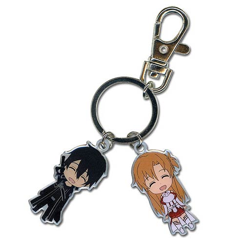 Sword Art Online Kirito and Asuna Metal Key Chain