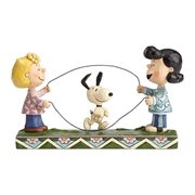 Peanuts Jim Shore Sally Lucy and Snoopy Jump Rope Statue