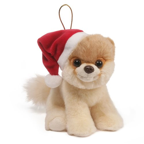 Itty Bitty Boo Santa Hat Boo Ornament Plush