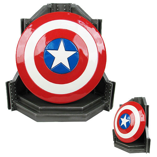 Captain America Shield Bookend Statue