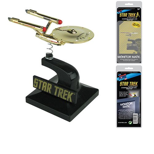 Star Trek: The Original Series 24kt Gold Plated Enterprise Monitor Mate - Convention Exclusive