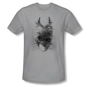 Batman Dark Knight Rises Bat Head Gray T-Shirt