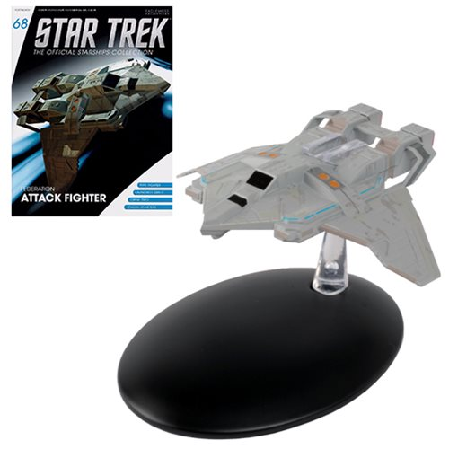 Star Trek Starships Federation Fighter Die-Cast Metal Vehicle with Collector Magazine