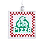 Noble Gems Pizza Box 4 1/2-Inch Glass Ornament