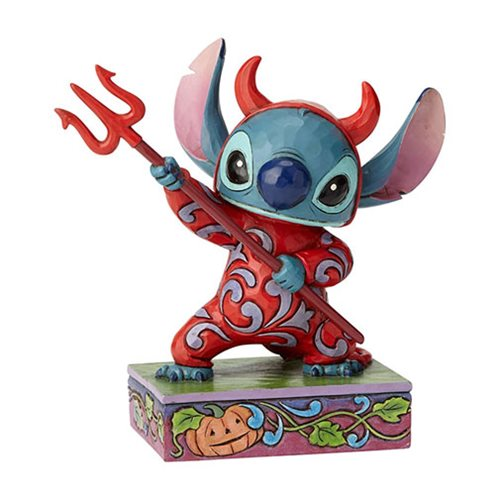 Disney Traditions Stitch in Devil Costume Devilish Delight Statue by Jim Shore
