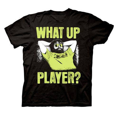 Hangover Alan What Up Player? Black T-Shirt