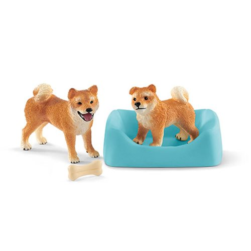 Farm World Shiba Inu Mother and Puppy Set