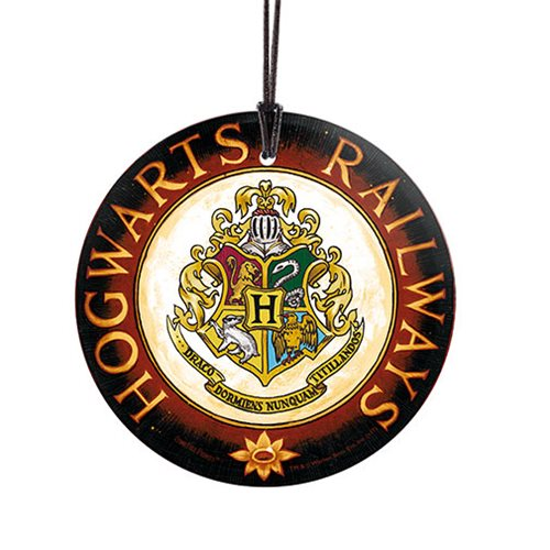 Harry Potter Hogwarts Railways StarFire Prints Hanging Glass Ornament