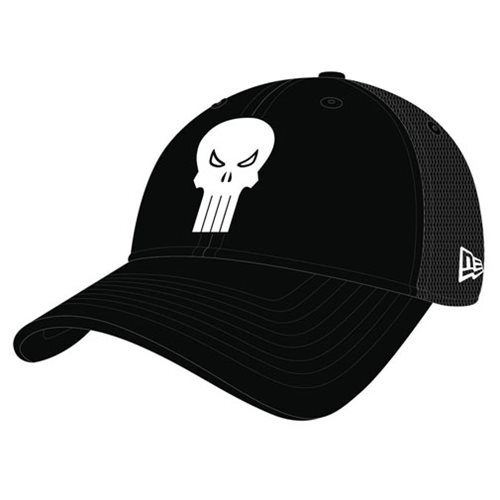 Punisher Symbol Washed Trucker Snap Back Cap