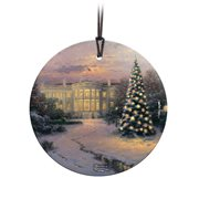 Thomas Kinkade The Lights of Liberty StarFire Prints Hanging Glass Ornament