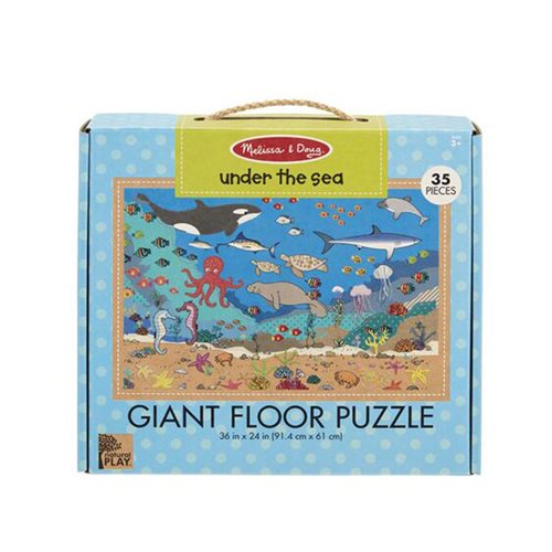 Melissa & Doug Natural Play  Under the Sea 35-Piece Giant Floor Puzzle