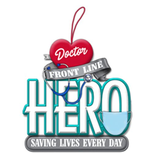 Front Line Doctor Hero 3 1/4-Inch Resin Ornament