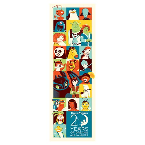 Dreamworks 20 Years of Dreams Silkscreen Artwork Print