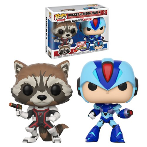 Marvel Vs Capcom Rocket Vs MegaMan Pop! Vinyl 2-Pack