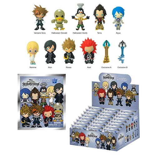 Kingdom Hearts Series 3 3D Figural Key Chain Random 6-Pack