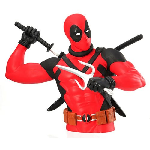 Deadpool with Katana Bust Bank
