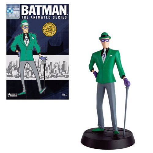 DC Batman The Animated Series Series 2 Riddler Statue with Collector Magazine #3