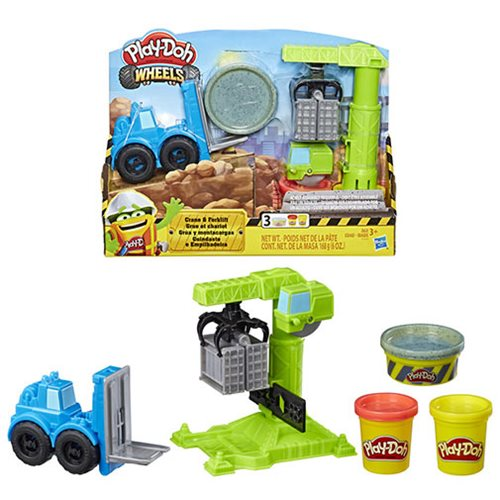 Play-Doh Wheels Crane and Forklift Construction Toys